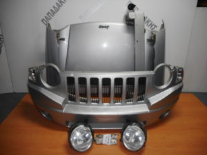 Jeep Compass 2007-2011 μούρη κομπλέ ασημί