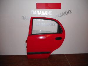 Chevrolet Matiz 2005-2009 πόρτα πίσω αριστερή κόκκινη