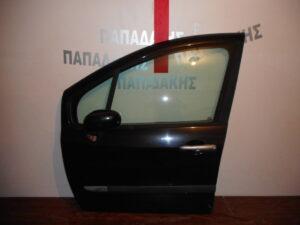 Renault Modus 2005-2013 εμπρός αριστερή πόρτα μαύρη